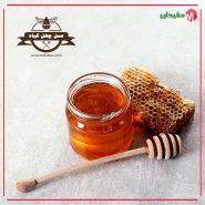 بسته 500 گرمی عسل چهل گیاه همراه موم عسل