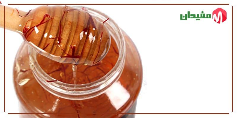 ترکیب و مصرف عسل و زعفران